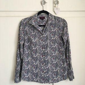 J.Crew Liberty June's Meadow Floral Shirt Size 2